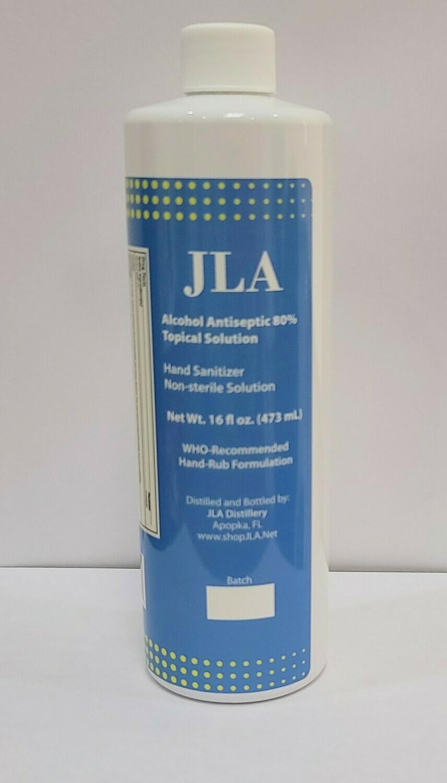 16 Ounce Liquid Hand Sanitizer 80%
