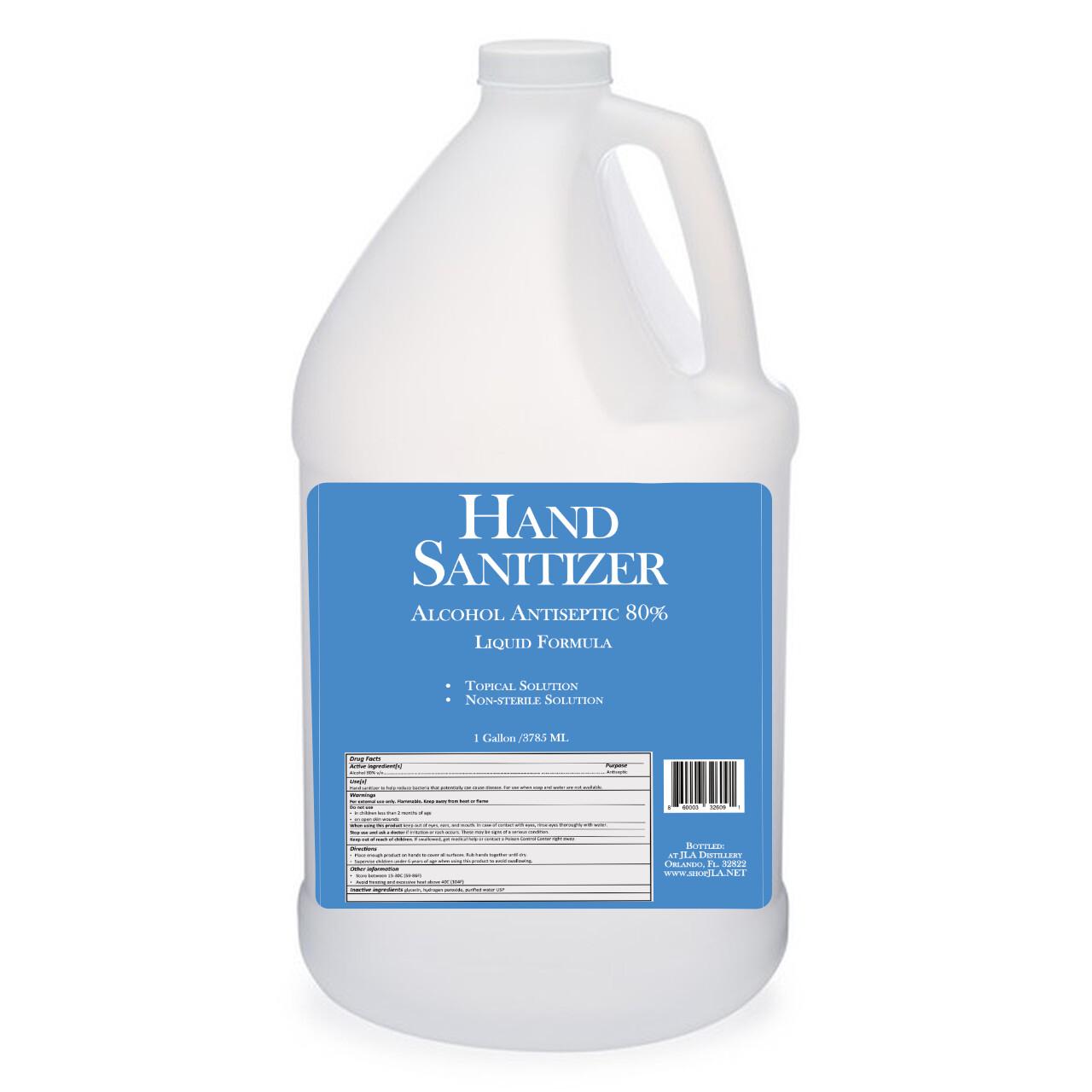 1 Gallon Liquid Hand Sanitizer 80%