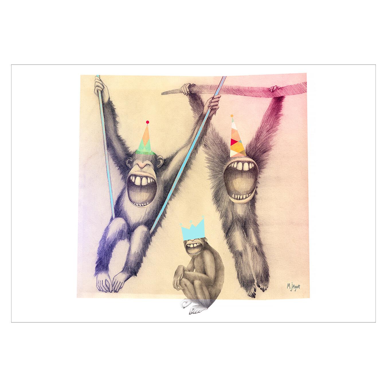 Laughing monkeys