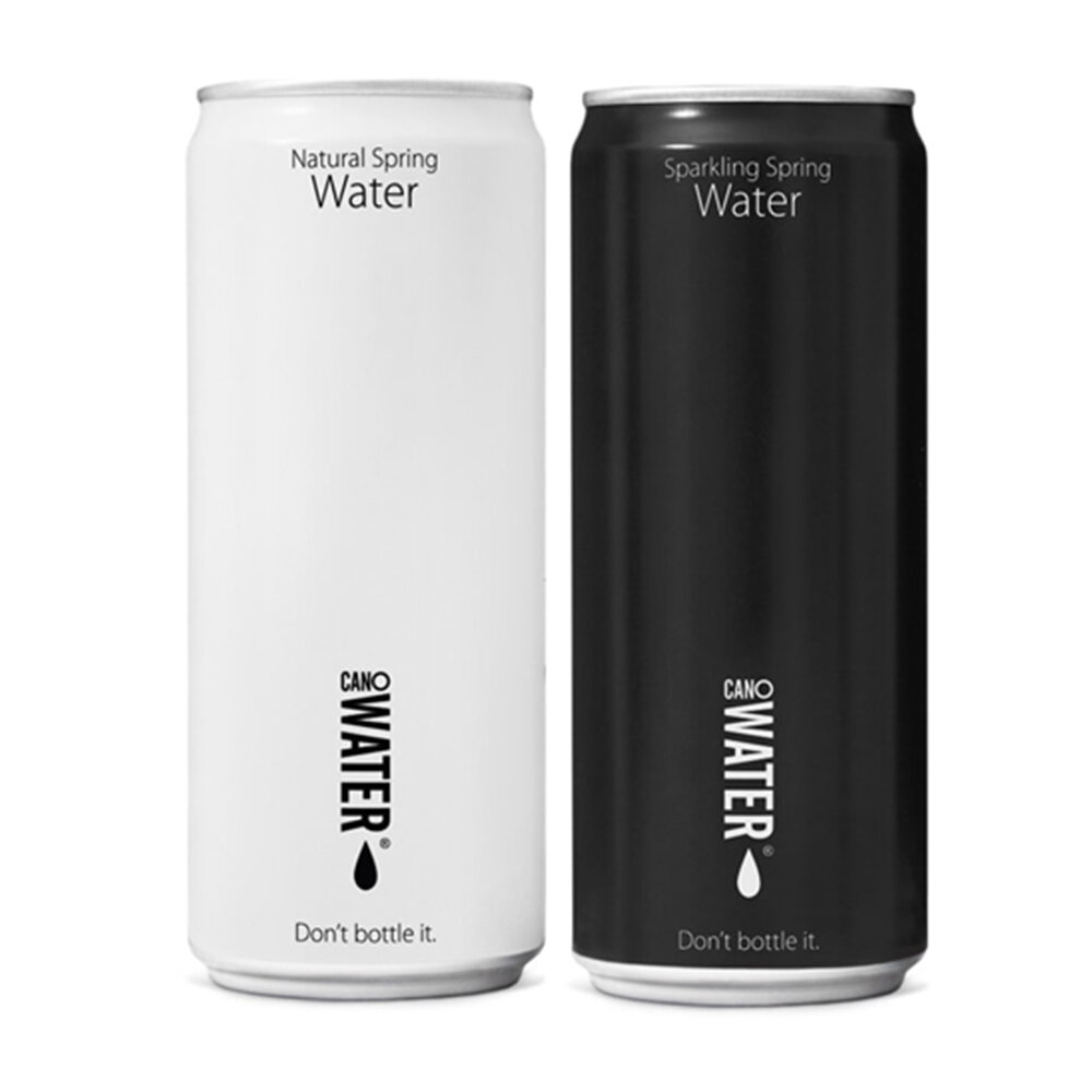 CanO Water Resealable Can Spring Water. 330ml