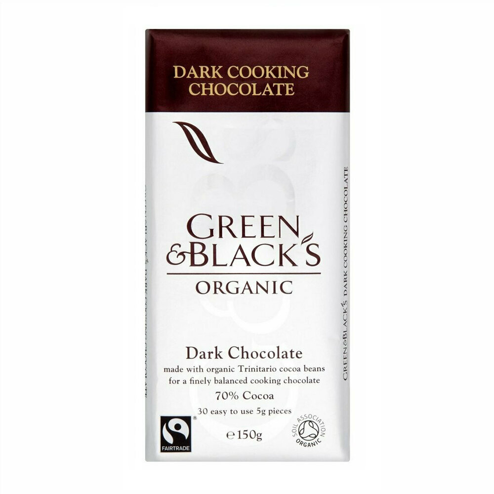 Green & Black's Organic Dark Chocolate, 150g