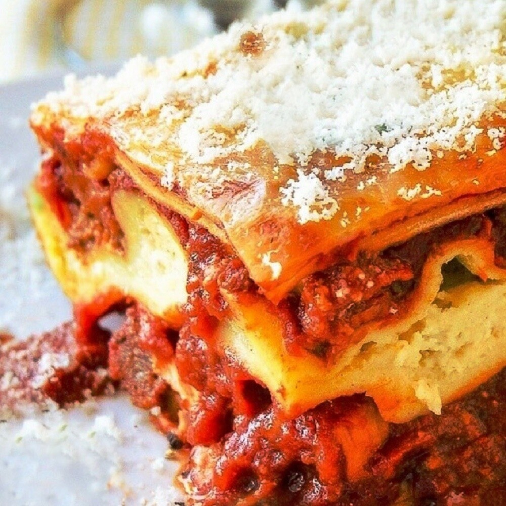 Lasagna, single portion