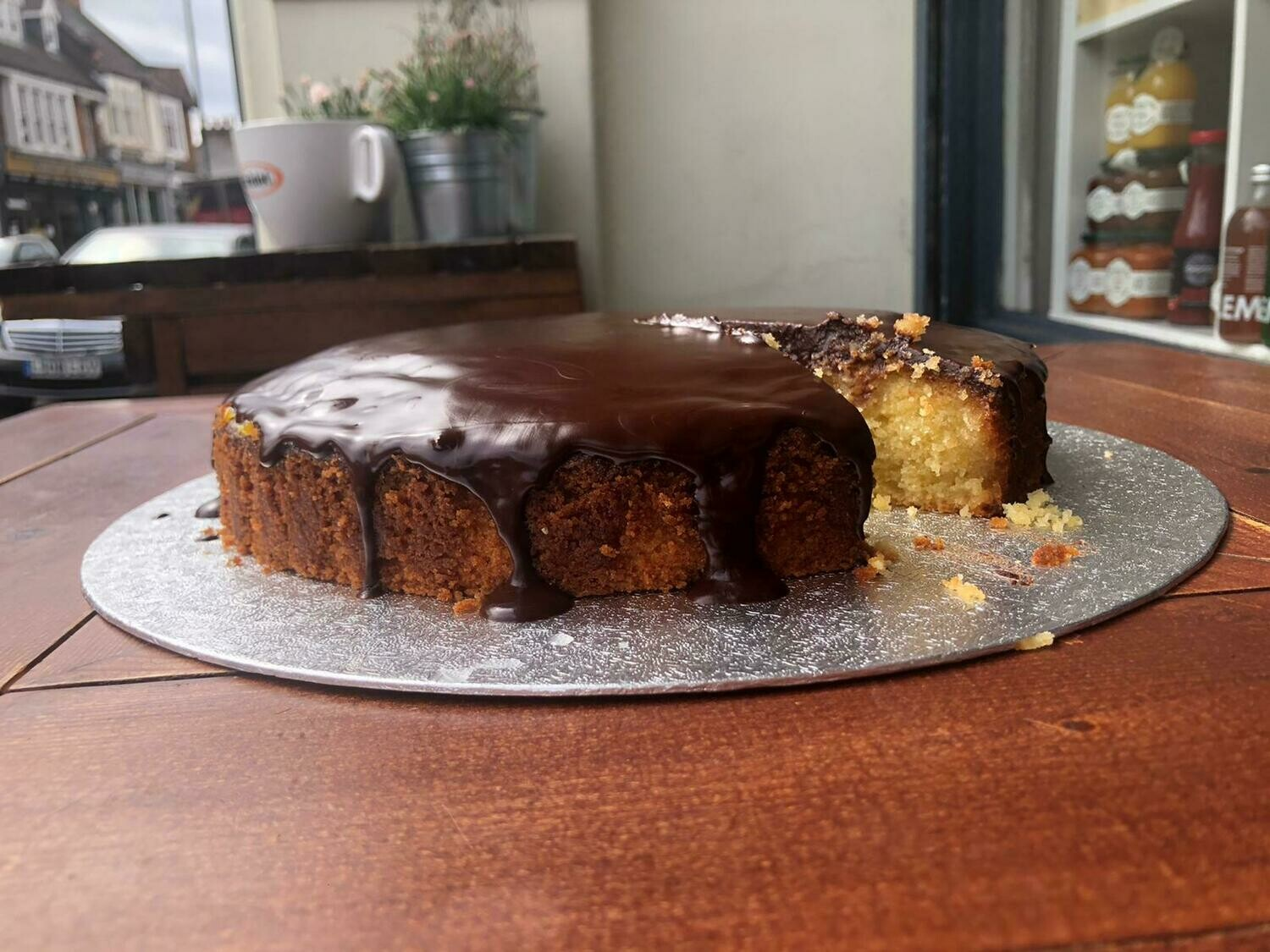 Clementine and Almond Cake with Chocolate Ganache