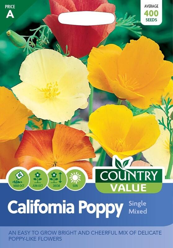 CALIFORNIAN POPPY Single Mixed