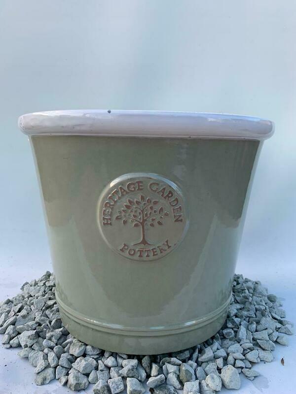 Woodlodge Green White Lip Heritage Pot 40cm