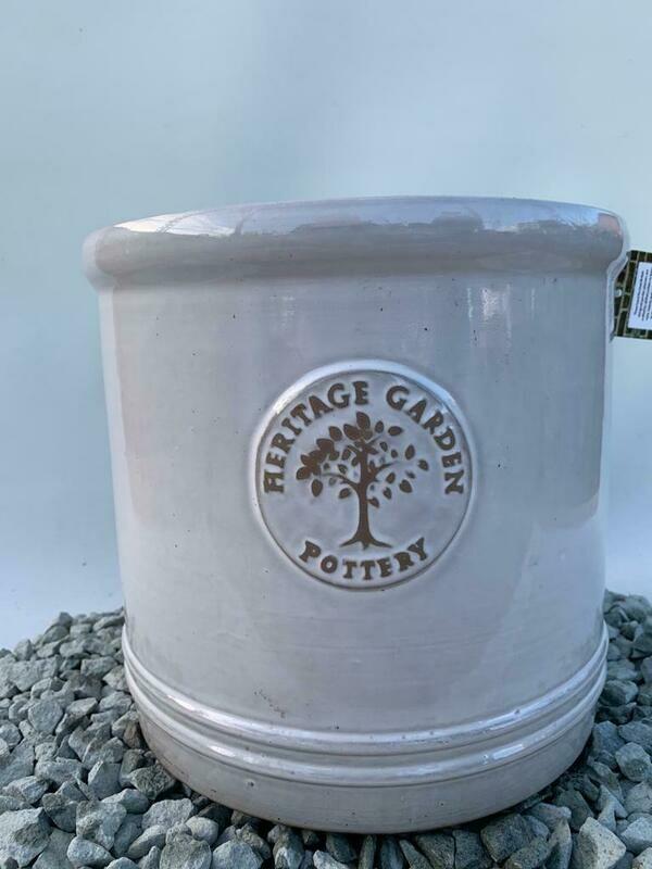 Woodlodge White Heritage Pot 30cm