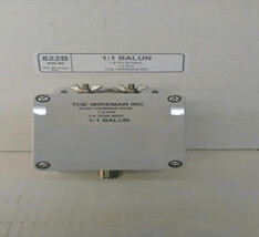 THE WIRE MAN 1:1CURRENT BALUN 1.8 -55MHZ 821A