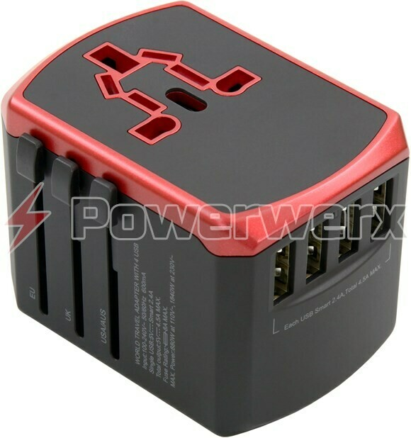 POWERWERX USB TRAVEL ADP 4 PORT