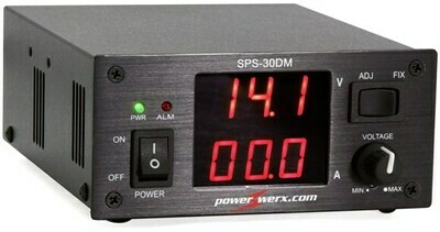 POWERWERX 30AMP VARIABLE POWER SUPPLY W/ DIGITAL METERS SPS-30DM