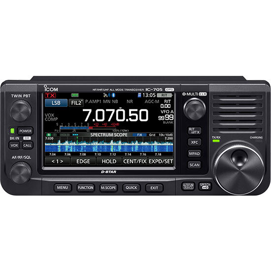 """ICOM IC-705 """"NEW HOT ITEM"""" GET IN LINE NOW, HOLD YOUR SPOT WITH A PURCHASE OR A DEPOSIT. CALL 1-833-4-KM4MPF"""