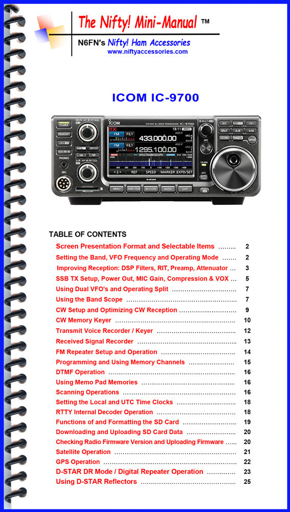 NIFTY MANUAL ICOM IC-9700