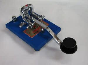 VIBROPLEX STRAIGHT KEY BLUE