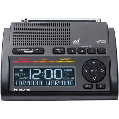 MIDLAND WR400 DELUXE WEATHER ALERT RADIO