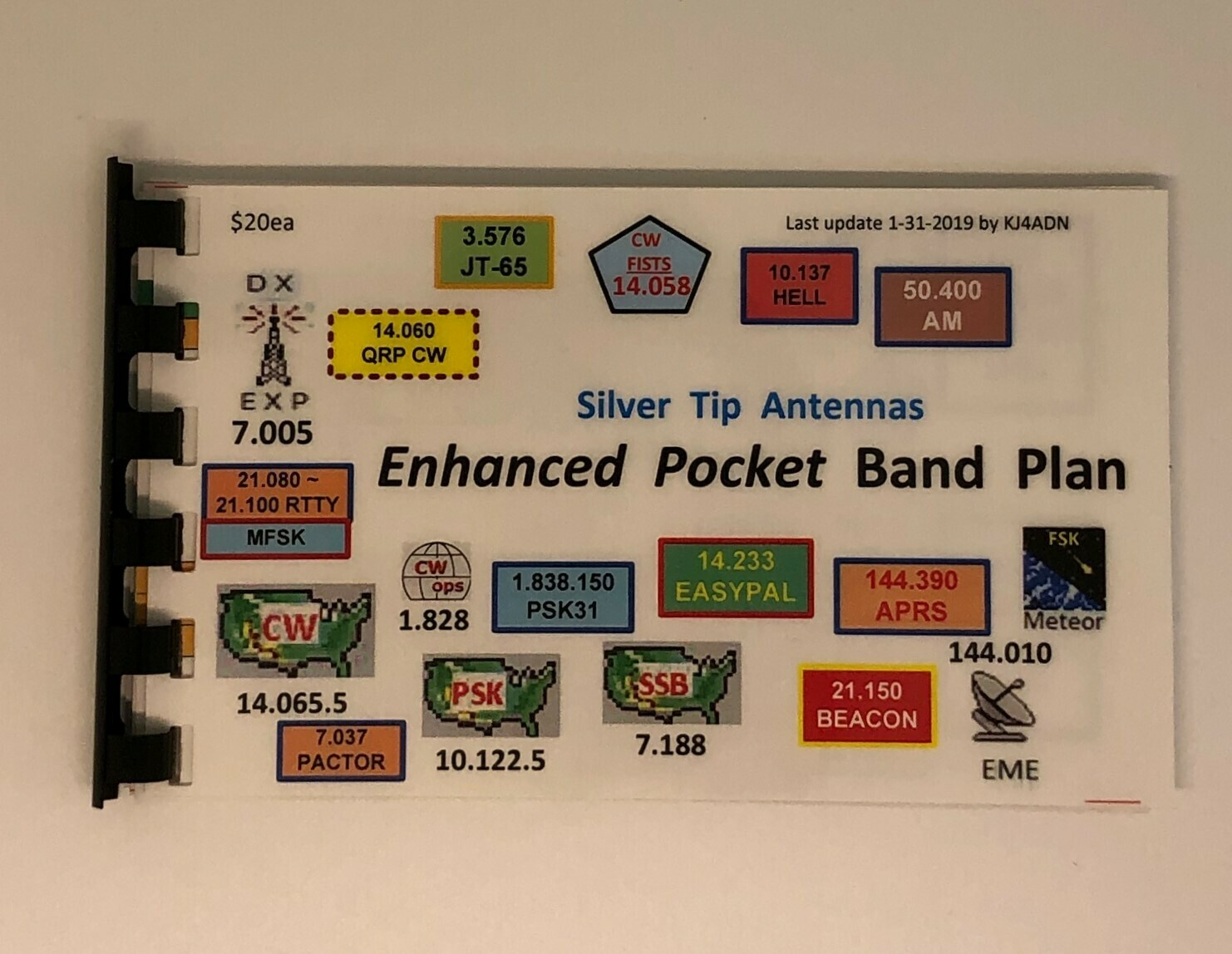 "KJ4ADN POCKET BAND PLANS  ""SILVER TIP ANTENNAS"""