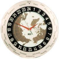 MFJ-115 24HR WORLD MAP ANALOG CLOCK
