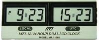 MFJ-108B LCD 12/24HR DUAL CLOCK