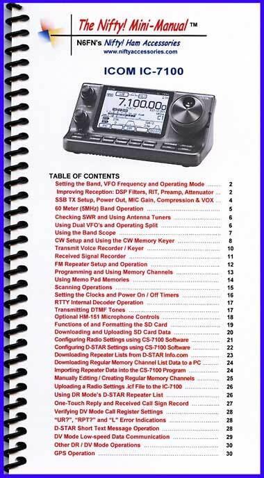 NIFTY MANUAL ICOM IC-7100A