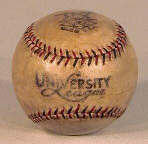 1910s Red & Black Stitched Draper & Maynard, University League Baseball