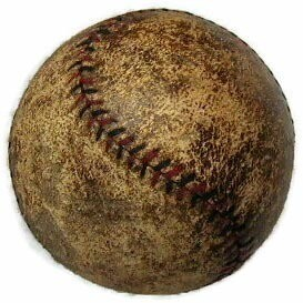 1910's Red and Black Stitched Baseball