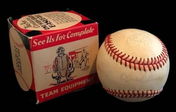 1930-40's Official League Baseball, Mint in the Original Box
