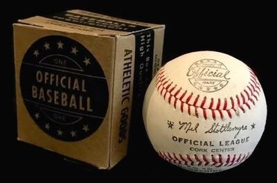 1960's Mel Stottlemyre Baseball Mint in the Original Box
