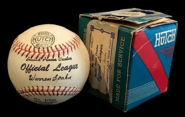 1940's Warren Spahn Endorsed Hutch Brand Baseball MINT in the Original Box