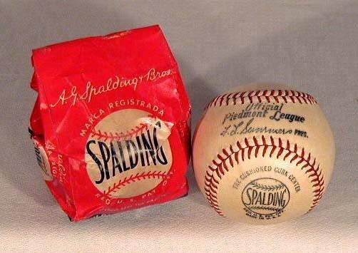 1951-1954 Piedmont League Baseball in the Original Bag
