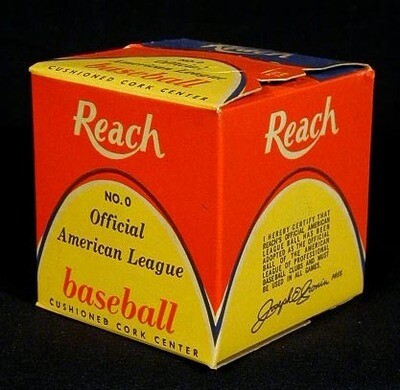 1950's Reach Official American League Baseball, President Joe Cronin