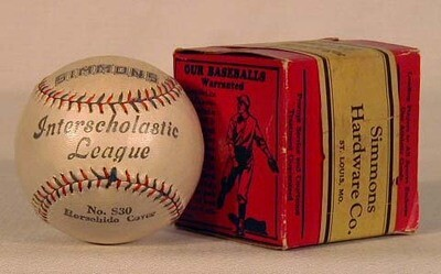 1910's Simmons Hardware Co. Baseball Mint in Box