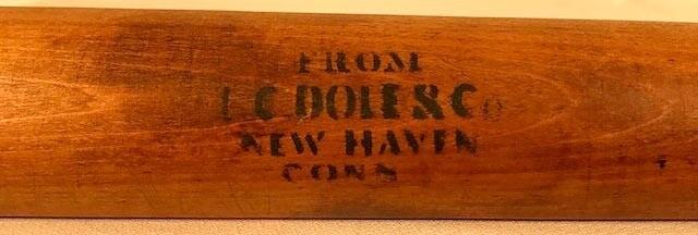 Dated 1883 Willow Baseball Bat used by Sam Chase of Yale University