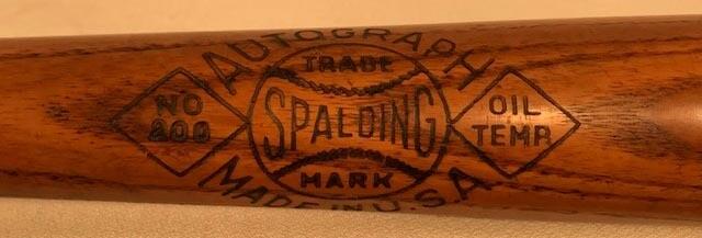 1930 - 1933 Ossie Orwell Spalding Autograph 200 Series Baseball Bat