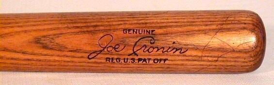 Vintage Baseball Bat - 1930's Joe Cronin Louisville Slugger Baseball Bat