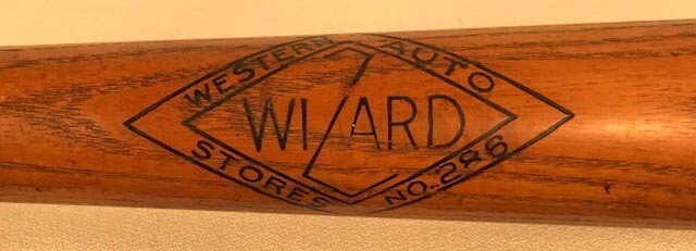 1930's Jimmie Foxx Bat made by Wizard - the Western Auto Stores No. 286