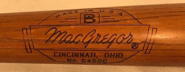 1950's Jackie Robinson Baseball Bat made by MacGregor