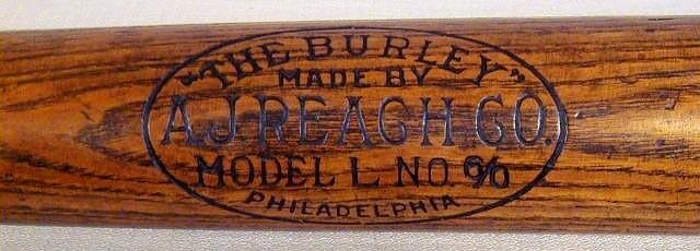"Vintage Baseball Bat - 1910's A. J. Reach ""The Burley"""