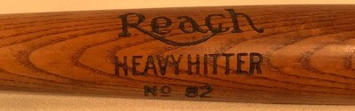 "Vintage Baseball Bat - 1910's A. J. Reach ""Heavy Hitter"""