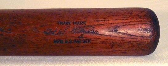 Vintage Baseball Bat - 1920's Kiki Cuyler Louisville Slugger Baseball Bat