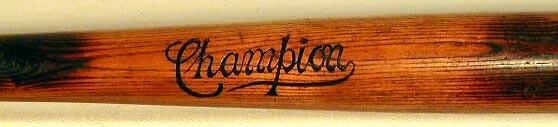 Vintage Baseball Bat - 1900's Champion
