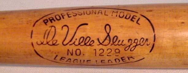 Antique Baseball Bat - DeVille Slugger Professional Model