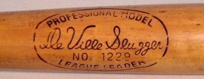 Antique Baseball Bat - DeVille Slugger Professional Model