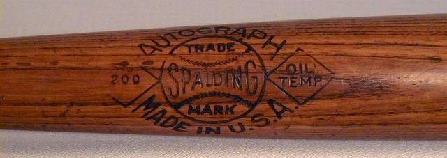 1928-1931 George Burns Spalding Autograph 200 Series Baseball Bat