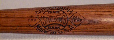 1928-1931 George Burns Spalding Autograph 200 Series Baseball Bat