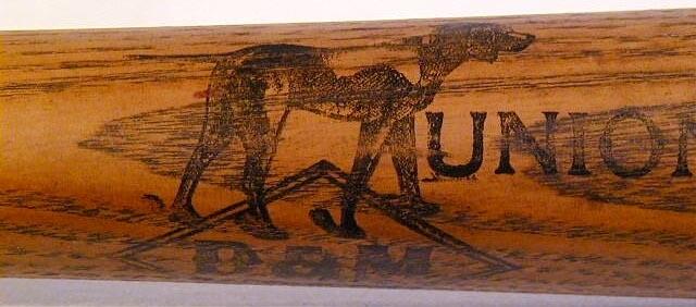 19th Century Baseball Bat - 1890's D&M Union League Model Ring Bat