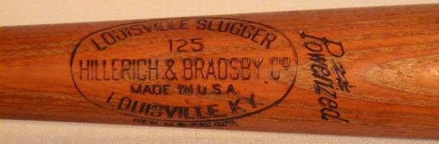 Rollie Hemsley GAME USED baseball bat - 1940's