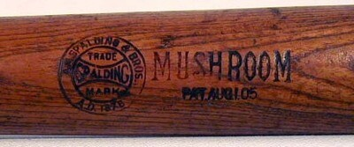 Patented 1905 Spalding MUSHROOM Bat