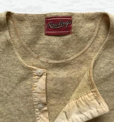 George McQuinn 1940's Game Worn Rawlings Wool Baseball Warm Up Shirt