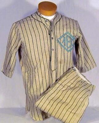 1910 - 1920's Baseball Uniform