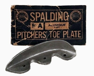 1910's Spalding Baseball Pitchers' Toe Plate
