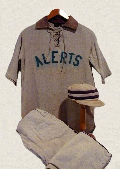 Baseball Uniform with Lace Up Jersey and Pillbox Style Cap