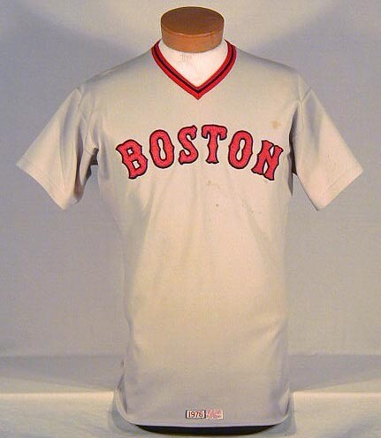 1976 Boston Red Sox Game Used Baseball Jersey